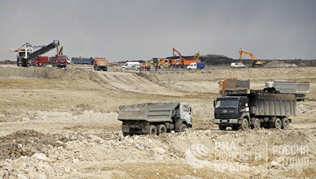 Участок объездной дороги «Дубки – Левадки» под Симферополем строят ударными темпами