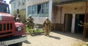 В Бахчисарайском районе произошёл пожар. 48 жильцов двухэтажного дома эвакуированы