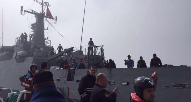 Моряков затонувшего корабля ЧФ РФ «Лиман» доставили в Севастополь