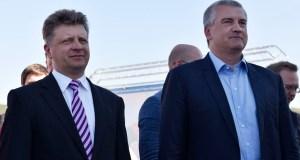 Сергей Аксёнов и Максим Соколов побывали на стройплощадках Керченского моста