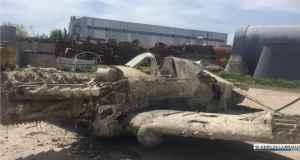 """Самолет """"Киттихаук"""", поднятый со дня Керченского пролива 5 мая, готовят к реставрации"""