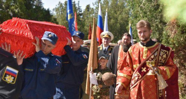 В Севастополе захоронили останки 99 советских воинов