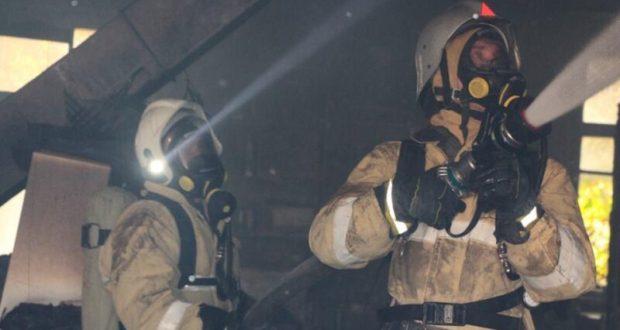 Пожар в двухэтажном многоквартирном жилом доме в Залесье под Симферополем