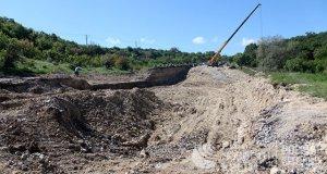На разрушенном оползнем участке трассы «Симферополь – Севастополь» закипела работа
