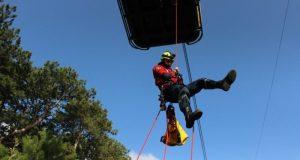 «КРЫМ-СПАС» провел тренировку по эвакуации пострадавших с канатной дороги «Мисхор – Ай-Петри»