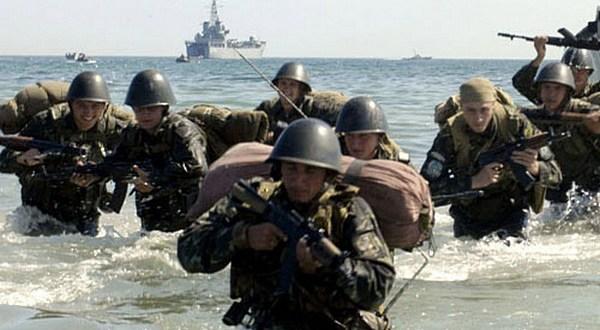 Отдельная бригада морской пехоты Черноморского флота провела учение на полигоне Опук