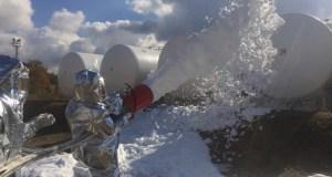 Крымские спасатели ликвидировали условный пожар на нефтебазе