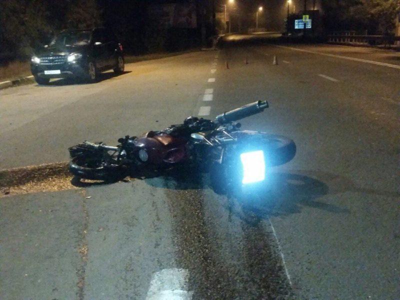 Ночное ДТП под Симферополем. Пострадал мотоциклист
