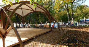 В симферопольском парке имени Гагарина появилась беседка «Артпространство»