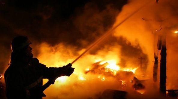 Пожар в крымском селе Победное - пострадал мужчина