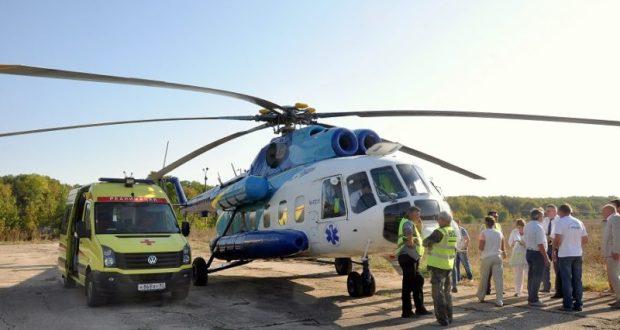 Крым планирует к 2020 году оборудовать все крупные больницы вертолетными площадками