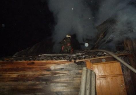 Пожар в крымском поселке Багерово. Горел жилой дом