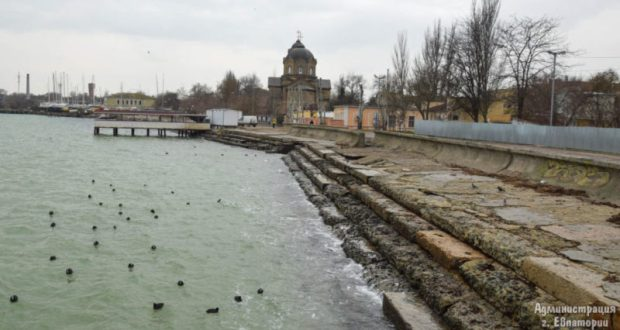 В Евпатории стартовала реконструкция набережной имени Терешковой