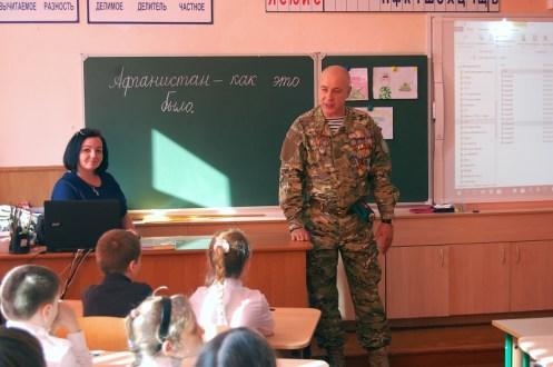 Уроки Мужества в школах Балаклавы: о патриотизме, военном долге и службе в Афгане