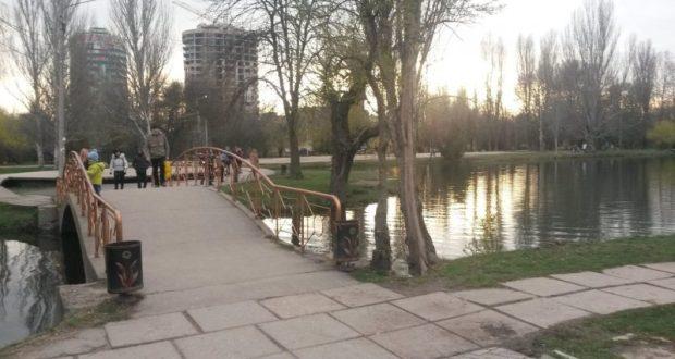 Работы по очистке пруда в парке им. Гагарина в Симферополе завершат к концу года