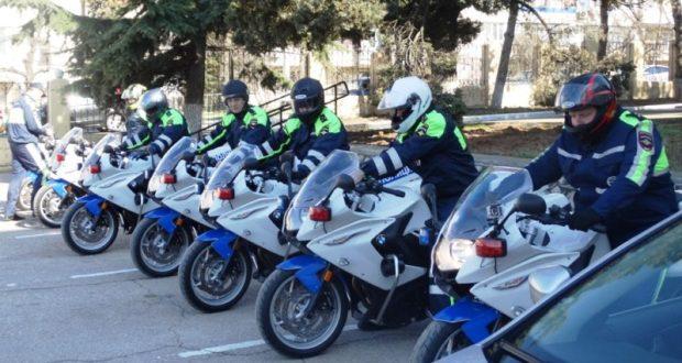 Полицейские мотоциклы начали патрулировать дороги Севастополя