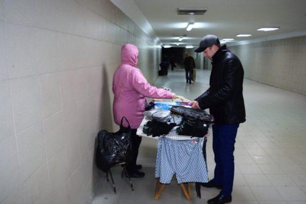 В Симферополе гоняли стихийных торговцев