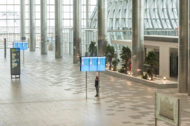 Владимир Путин прибыл в новый терминал международного аэропорта «Симферополь»