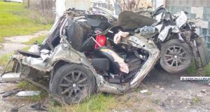 Ночное ДТП в Керчи. «Subaru» протаранил фуру