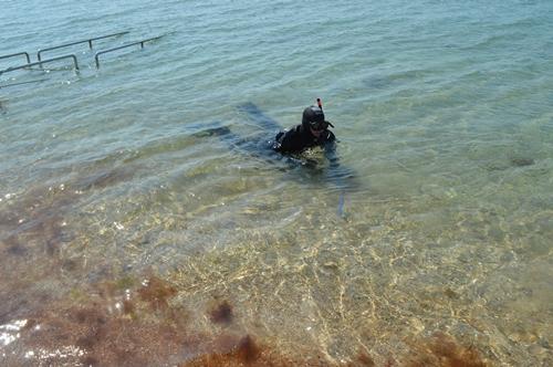 Пляжи Евпатории готовят к сезону - чистят акваторию