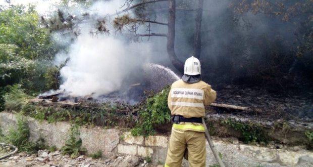 В нескольких регионах Крыма установлен высокий класс пожарной опасности