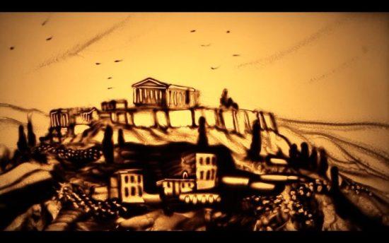 Мастер песочной анимации из Евпатории представляет новый фильм. О Греции