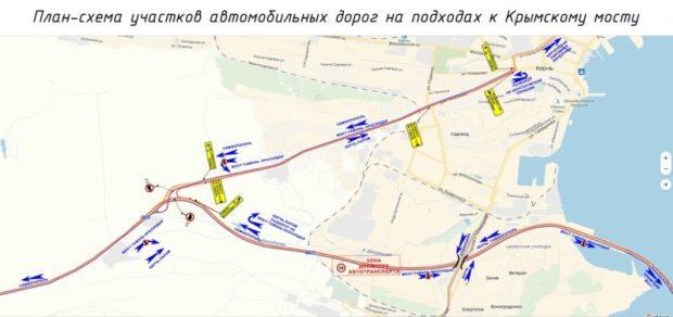 В связи со скорым открытием Крымского моста, обнародована новая схема движения в районе Керчи