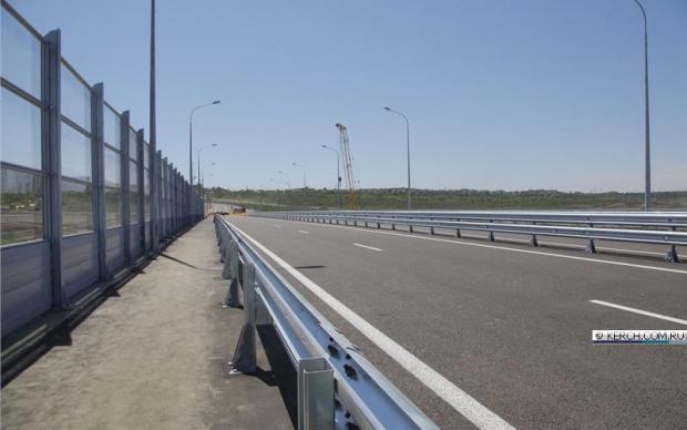 Открыто движение по путепроводу через автоподход к Крымскому мосту