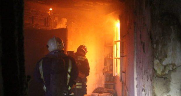 Пожар в Севастополе - едва не погибли три человека