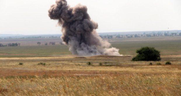 В Ленинском районе Крыма сегодня взрывали бомбы