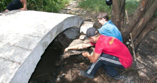 В Феодосии во время субботника ожил старинный источник