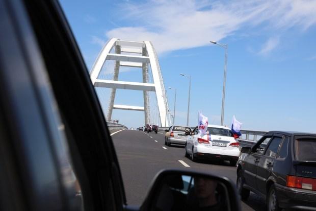 Автопробегом по Крымскому мосту - масштабная акция ко Дню России
