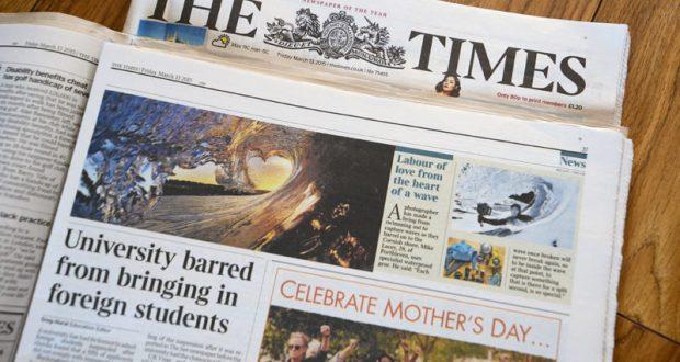 Очередной «картографический скандал». Издание «The Times» считает Крым частью России