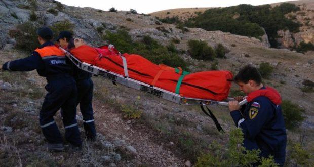 В Крыму на спуске с Долгоруковской яйлы турист сломал ногу