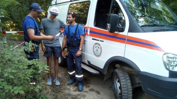 С горы Аю-Даг сняли москвича-туриста