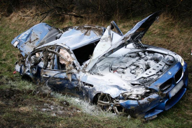 ДТП в Бахчисарайском районе. Машина сгорела, водитель погиб на месте