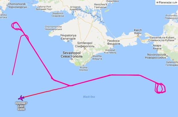 Заблудился? Военный самолет ВВС Великобритании провел разведку у берегов Крыма