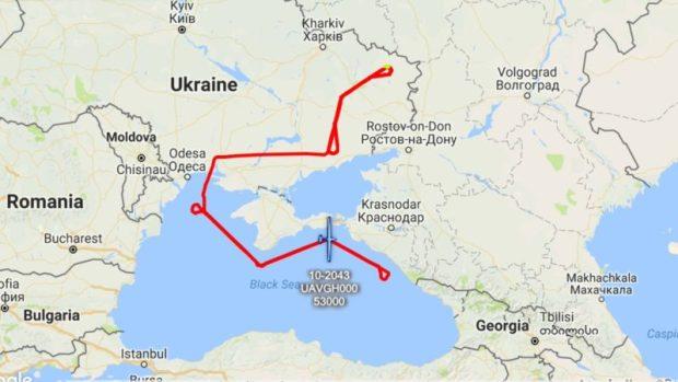 Над Черным морем, вблизи Крыма снова летали натовские самолеты-разведчики