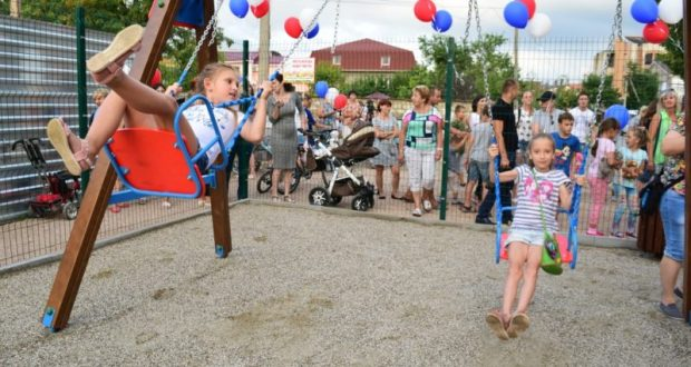 В Симферополе открыты новые детские площадки