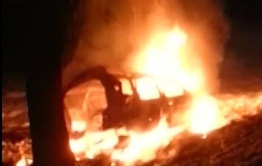 В Севастополе на Сапун-горе сгорел автомобиль