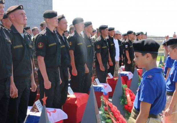 В Севастополе перезахоронили останки бойцов, защищавших город в Великую Отечественную войну