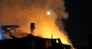 Ночной пожар в Симферополе. Горел дом в Тихом переулке