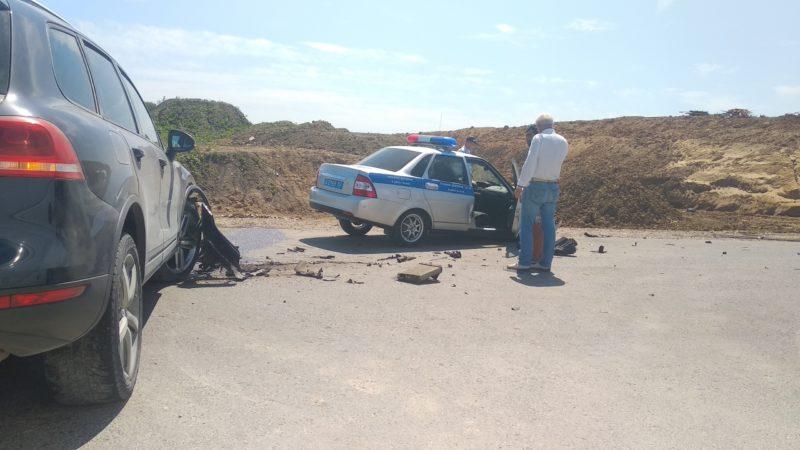 На трассе «Симферополь – Керчь» произошло ДТП с участием патрульного автомобиля ГИБДД