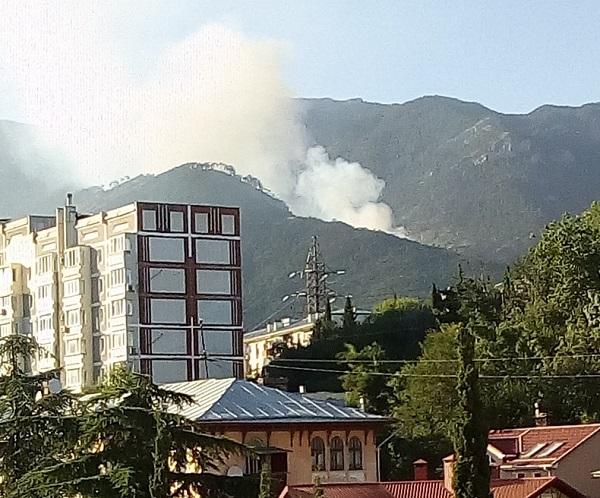 Площадь пожара в горах над Ялтой возросла до 80 гектаров. Из Ростова спешит подкрепление МЧС