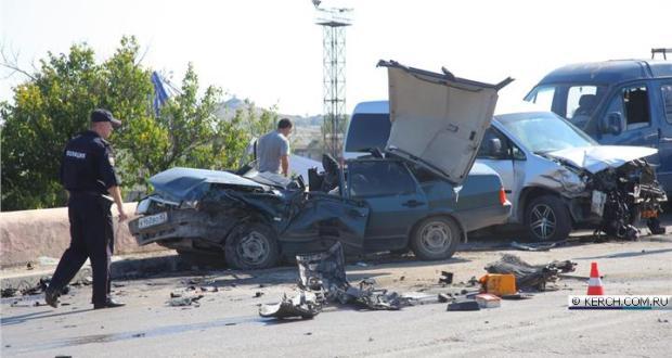 Смертельное ДТП на Горьковском мосту в Керчи
