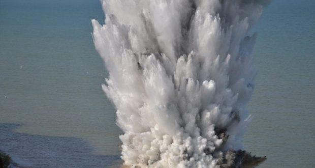 В море у крымского села Поповка уничтожена авиационная мина времен Великой Отечественной войны
