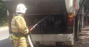 На трассе «Симферополь – Ялта» загорелся рейсовый автобус