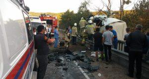 Подробности ДТП на выезде из Грушевки. Столкнулись два грузовика