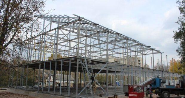 В Симферополе продолжается возведение пяти модульных детских садов