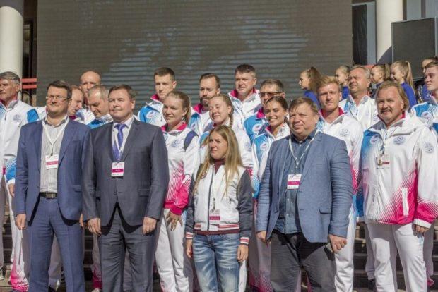 В Симферополе встретили Эстафету огня Зимней универсиады-2019